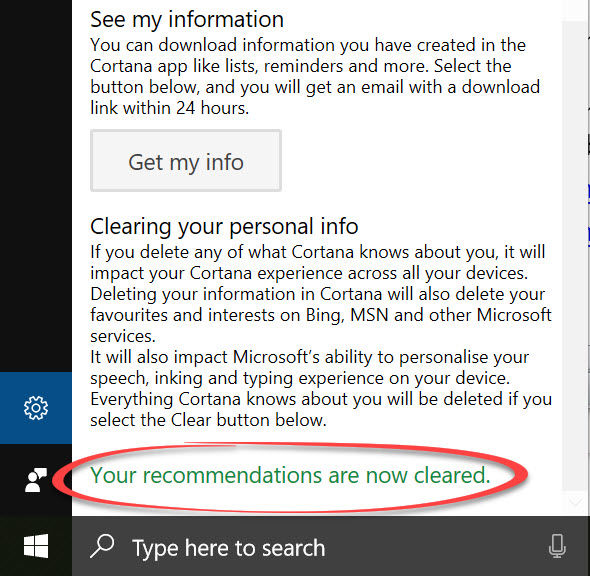 What does Cortana know about you?